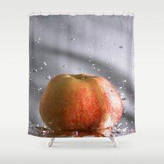 Apple splash Shower Curtain
