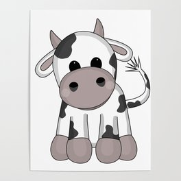 Cuddly Cow Poster