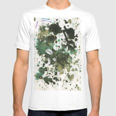 inkdots Mens Fitted Tee White MEDIUM