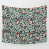 paisley Wall Tapestries featuring Paisley by Lisi Fkz