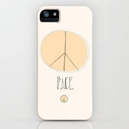 Lovely Little Peace Sign iPhone Case