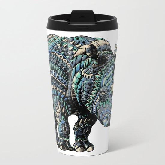 Rhinoceros (Color Version) Metal Travel Mug