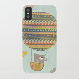 Bear in the air iPhone Case