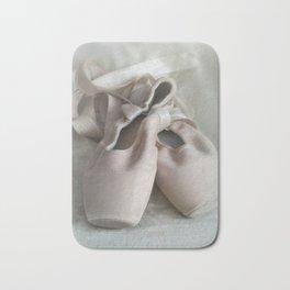 Pink ballet shoes Bath Mat