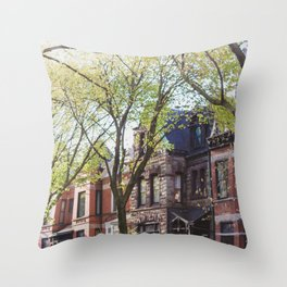 Pretty Buildings in Chicago Throw Pillow
