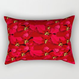 Poinsettia Christmas Rectangular Pillow