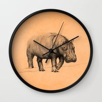 hippo Wall Clocks featuring Hippo by 1 of 20