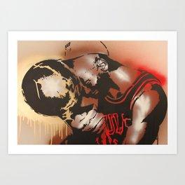 M J Art Print