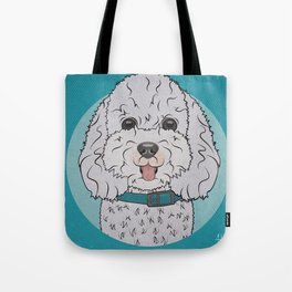 Icons of the Dog Park Bichon Frise  Design in Bold Colors for Pet Lovers Tote Bag