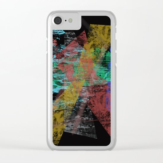 Black abstract designe Clear iPhone Case