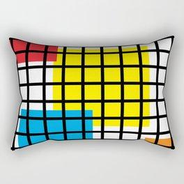 Modern geometric background, red, yellow, green,orange and blue  #society6 #decor #buyart #artprint Rectangular Pillow