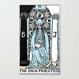 Geometric Tarot Print - The High Priestess Canvas Print