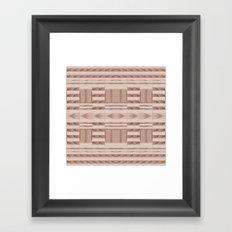 Beige Windows Abstract Framed Art Print