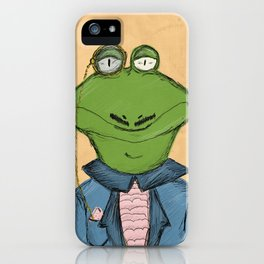 Sophisticated Frog Print iPhone Case