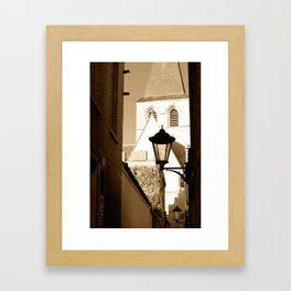 A shortcut to church Framed Art Print