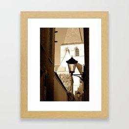A shortcut to church Framed Art Print