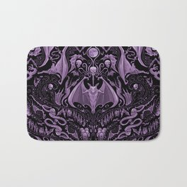Bats and Beasts (Purple) Bath Mat
