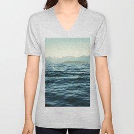 Ocean Waves.Mountains.Canada.Desolation Sound.Water Texture.35mm film. Unisex V-Neck