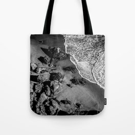 Ocean Waves on Rocks Tote Bag