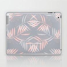 Palm leaves lace pattern on grey Laptop & iPad Skin