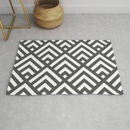 Grey geometric art deco diamond pattern Rug