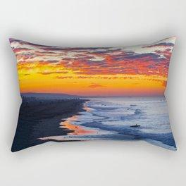 Sunrise Huntington Beach Pier   12/12/13 Rectangular Pillow