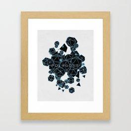 Polygon Polygone - Blue Framed Art Print