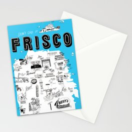 """San Francisco """"Don't Call It Frisco"""" Map Stationery Cards"""