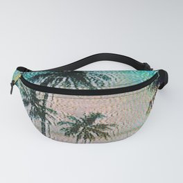 Analogue Glitch Palm Trees Sunrise Fanny Pack