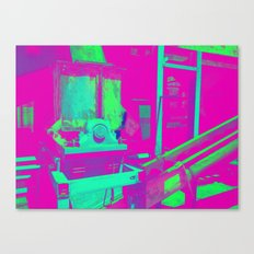 Industrial Abstract Purple Canvas Print
