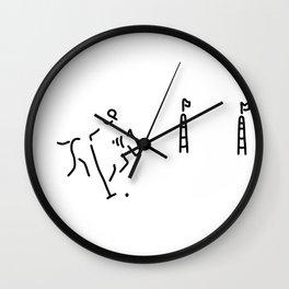 Polo horse-racing jockey horse Wall Clock