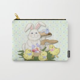 White Rabbit and Easter Friends Carry-All Pouch