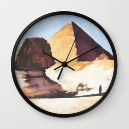 The Great Sphinx And Pyramid Wall Clock