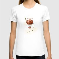 tea T-shirts featuring Tea for Two at Dusk by Paula Belle Flores
