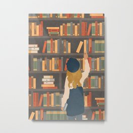 Library Love Metal Print