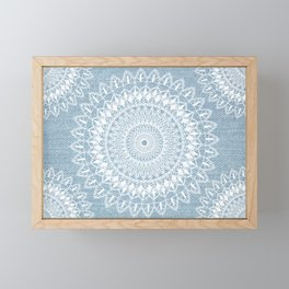 Mandalas on jeans n.1 Framed Mini Art Print