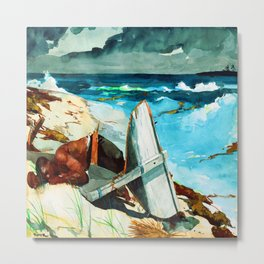Winslow Homer After the Hurricane Metal Print