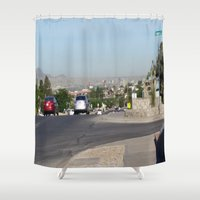 western Shower Curtains featuring Western City by GregoryH