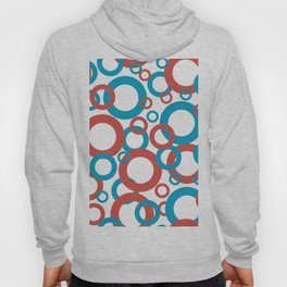 AI Aqua 098-59-30 Coloro 2021 Color Of the Year and Red Oxy Fire 015-50-36 Funky Geometric Rings Hoody