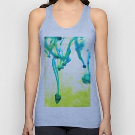 Ink Abstract Yellow Green Unisex Tank Top
