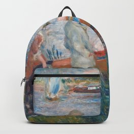 Oarsmen at Chatou Painting by Auguste Renoir Backpack