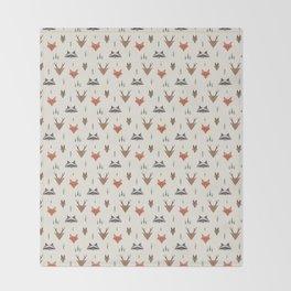 Minimalist Forest Animals Throw Blanket