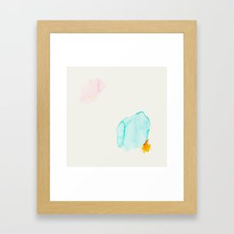 Minimum 4 - Minimal artwork by Jen Sievers Framed Art Print