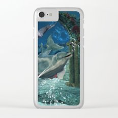 Wonderful dolphin Clear iPhone Case