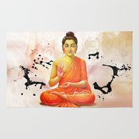 buddha Area & Throw Rugs featuring Buddha by O. Be