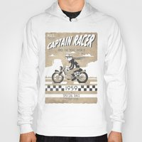 cafe racer Hoodies featuring CAPTIAN RACER by Morselli Mattia