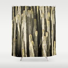 Suculent endemic canarian cacti Shower Curtain