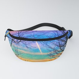 Pastel Plane Take-Off Fanny Pack