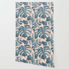 Tropical Monstera Leaves Dream #5 #tropical #decor #art #society6 Wallpaper