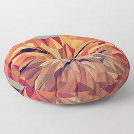 Winking Cat Vector Illustration Floor Pillow